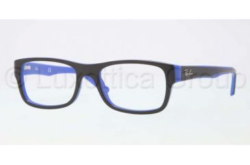 Ray-Ban RX5268 Eyeglass Frames 5179-4817 - Top Black on Blue Frame, Demo Lens Lenses