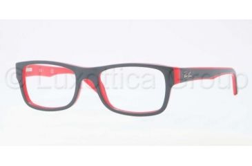 Ray-Ban RX5268 Eyeglass Frames 5180-4817 - Top Grey on Red Frame, Demo Lens Lenses