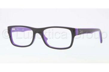 Ray-Ban RX5268 Bifocal Prescription Eyeglasses 5181-4817 - Top Black On Violet Frame, Demo Lens Lenses