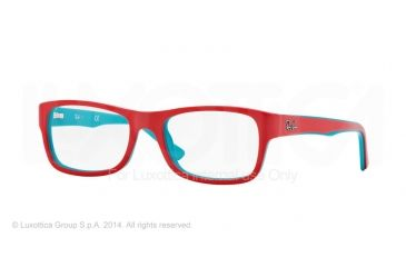 Ray-Ban RX5268 Bifocal Prescription Eyeglasses 5376-48 - Top Turquoise On Coral Frame