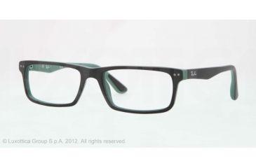 Ray-Ban RX5277 Prescription Eyeglasses 5227-52 - Top Black On Green Frame, Demo Lens Lenses