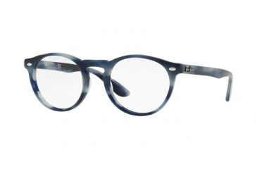 37f748bdba Ray-Ban RX5283 Prescription Eyeglasses 5773-49 - Horn Grey Blue Frame