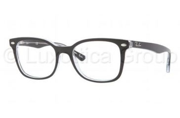 0fa1a91692 Ray-Ban RX5285 Single Vision Prescription Eyeglasses 2034-5319 - Top Black  On Transparent