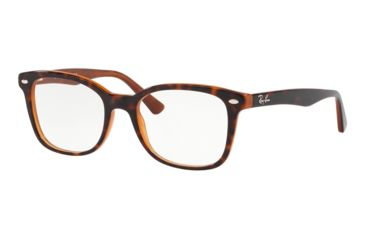 3bf4e6ac1a Ray-Ban RX5285 Prescription Eyeglasses 5713-53 - Top Havana On Brown