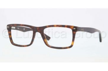 Ray-Ban RX5287 Single Vision Prescription Eyeglasses 2012-5218 - Dark Havana Frame