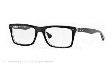 Ray-Ban RX5287 Single Vision Prescription Eyeglasses 2034-52 - Top Black On Transparent Frame