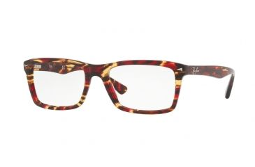 8fc9d770bf5 Ray-Ban RX5287 Single Vision Prescription Eyeglasses 5710-52 - Spotted Red  brown
