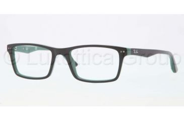 Ray-Ban RX5288 Eyeglass Frames 5138-5018 - Top Black / Green Frame, Demo Lens Lenses