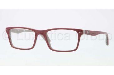 Ray-Ban RX5288 Bifocal Prescription Eyeglasses 5178-5218 - Top Bordeaux On Gray Frame, Demo Lens Lenses