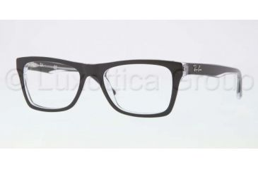 Ray-Ban RX5289 Bifocal Prescription Eyeglasses 2034-4817 - Top Black On Transparent Frame