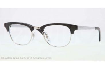 Ray-Ban RX5294 Single Vision Prescription Eyeglasses 2000-49 - Black/Silver Frame, Demo Lens Lenses
