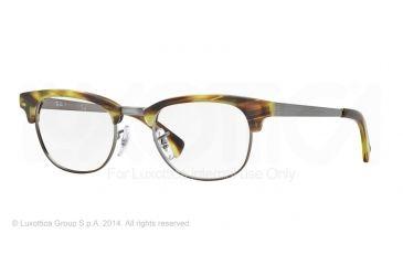 Ray-Ban RX5294 Single Vision Prescription Eyeglasses 5430-49 - Matte Stripped Green Havana Frame