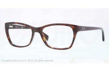 Ray-Ban RX5298 Progressive Prescription Eyeglasses 2012-53 - Dark Havana Frame, Demo Lens Lenses