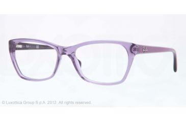 Ray-Ban RX5298 Progressive Prescription Eyeglasses 5230-53 - Trasparent Violet Frame, Demo Lens Lenses