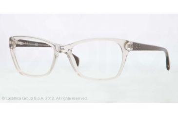 Ray-Ban RX5298 Progressive Prescription Eyeglasses 5234-53 - Trasparent Beige Frame, Demo Lens Lenses