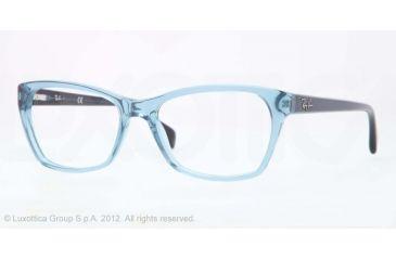 Ray-Ban RX5298 Progressive Prescription Eyeglasses 5235-53 - Trasparent Blue Frame, Demo Lens Lenses