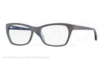 Ray-Ban RX5298 Eyeglass Frames 5389-53 - Top Matte Grey On Trasp Oil Frame