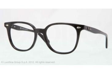 Ray-Ban RX5299 Bifocal Prescription Eyeglasses 2000-53 - Shiny Black Frame, Demo Lens Lenses
