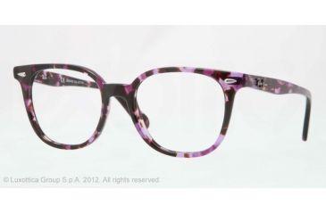 Ray-Ban RX5299 Bifocal Prescription Eyeglasses 5210-53 - Trasparent Violet Havana Frame, Demo Lens Lenses
