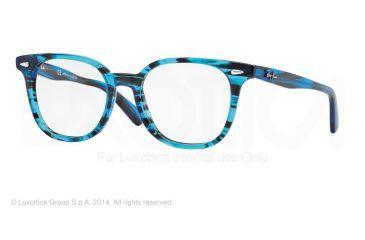 Ray-Ban RX5299 Bifocal Prescription Eyeglasses 5377-51 - Stripped Blue Frame