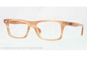 Ray-Ban RX5301 Progressive Prescription Eyeglasses 5142-53 - Striped Honey Frame, Demo Lens Lenses