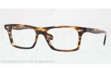 Ray-Ban RX5301 Progressive Prescription Eyeglasses 5209-51 - Trasp.light Havana Brown Frame, Demo Lens Lenses