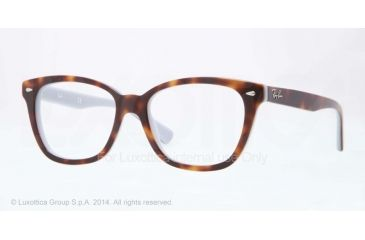 Ray-Ban RX5310 Bifocal Prescription Eyeglasses 5238-51 - Top Havana On Opal Blue Frame