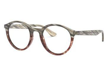 bbd2d81761c01 Ray-Ban RX5361 Progressive Prescription Eyeglasses 5837-49 - Grey Gradient  Brown Frame