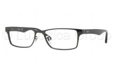 Ray-Ban RX6238 Single Vision Prescription Eyeglasses 2509-5317 - Shiny Black Frame