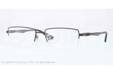 Ray-Ban RX6263 Progressive Prescription Eyeglasses 2509-52 - Shiny Black Frame, Demo Lens Lenses