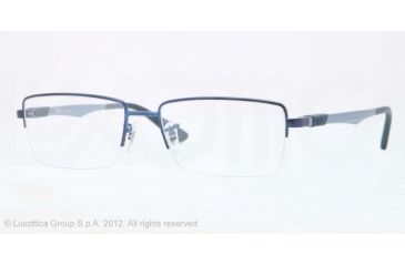 Ray-Ban RX6263 Progressive Prescription Eyeglasses 2510-54 - Satin Blue Frame, Demo Lens Lenses