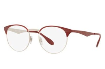 01a33fa0937 Ray-Ban RX6406 Eyeglass Frames 3024-49 - Silver On Top Red Move Frame