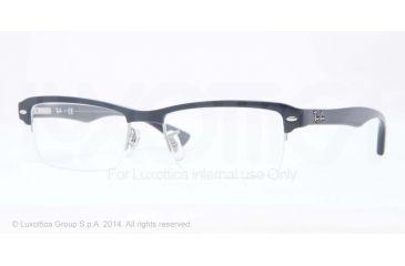 Ray-Ban RX7014 Bifocal Prescription Eyeglasses 5246-52 - Top Blue On Trasparent Blue Frame