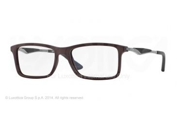 Ray-Ban RX7023 Eyeglass Frames 5258-53 - Top Brown On Matte Black Frame