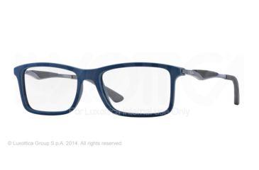 Ray-Ban RX7023 Eyeglass Frames 5260-53 - Top Blue On Matte Dark Grey Frame