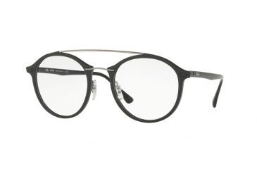 f91a825861 Ray-Ban RX7111 Single Vision Prescription Eyeglasses 2000-49 - Shiny Black  Frame