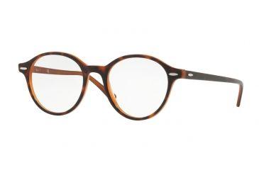 ff595b9906f Ray-Ban RX7118 Eyeglass Frames 5713-48 - Top Havana On Light Brown Frame