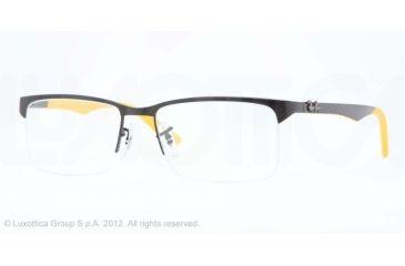 Ray-Ban RX8411 Bifocal Prescription Eyeglasses 2503-52 - Matte Black Frame, Demo Lens Lenses