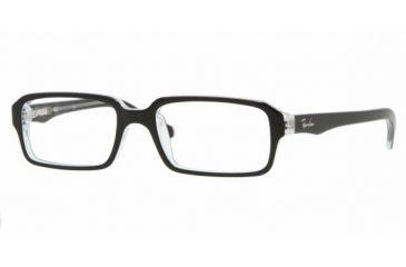 Ray-Ban RY 1520 Eyeglasses Styles - Top Black On Transparent Frame w/Non-Rx 45 mm Diameter Lenses, 3529-4515