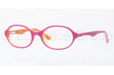 Ray-Ban RY1526 Bifocal Prescription Eyeglasses 3565-4316 - Top Fuchsia On Tr Orange Frame