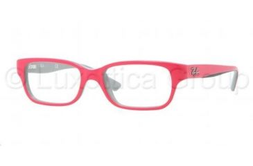 Ray-Ban RY1527 Eyeglass Frames 3575-4515 - Top Fuxia On Gray Frame, Demo Lens Lenses