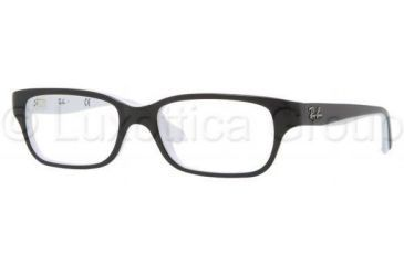 Ray-Ban RY1527 Eyeglass Frames 3579-4515 - Top Black On White Frame