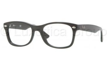 Ray-Ban RY1528 Single Vision Prescription Eyeglasses 3542-4816 - Black Frame