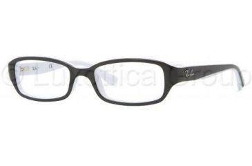 Ray-Ban RY1529 Eyeglass Frames 3579-4716 - Top Black On White Frame