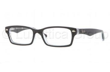 Ray-Ban RY1530 Single Vision Prescription Eyeglasses 3529-4616 - Top Black On Transparent Frame