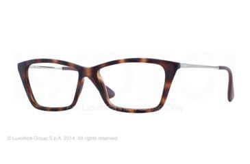 Ray-Ban SHIRLEY RX7022 Eyeglass Frames 5365-52 - Rubber Havana Frame