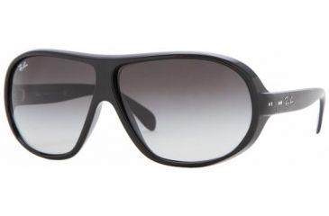 Ray-Ban RB4129 Sunglasses Styles - Black Gray Gradient Frame w/ 66 mm Diameter Lenses, 601-8G-6608