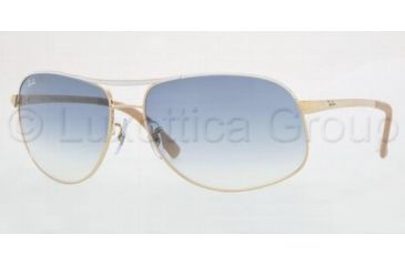 4c47928f431c2d ... new zealand ray ban sunglasses rb3387 077 7b 6415 gold white blue  mirror 95a55 859ae coupon image is loading new ray ban aviator silver 64mm  w bronze ...