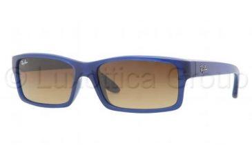 Ray-Ban Sunglasses RB4151 600585-5917 - Opal Blue Frame, Brown Gradient Lenses