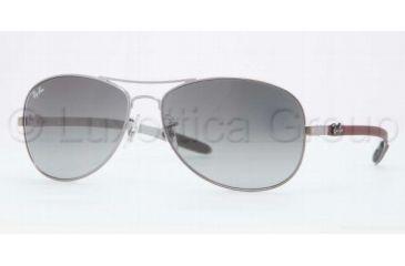 Ray-Ban Sunglasses RB8301 130/71-5614 - Shiny Gunmetal Frame, Gray Gradient Lenses